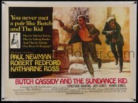 2s038 BUTCH CASSIDY & THE SUNDANCE KID linen Pakistani 30x41 1969 Beauvais art of Newman & Redford!