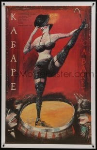 2s041 CABARET linen Russian 25x41 1989 wild different art of Liza Minnelli dancing in Nazi Germany!