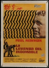 2s043 COOL HAND LUKE linen Spanish 1968 great art of Paul Newman, prison escape classic!