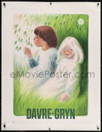 2s015 DAVRE-GRYN linen 25x33 Danish advertising poster 1940s Aage Sikker Hansen hansen art of kids!