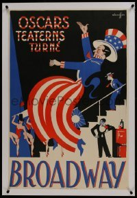 2s020 BROADWAY linen stage play Swedish 1930s Hakansson art of performers in patriotic outfits!