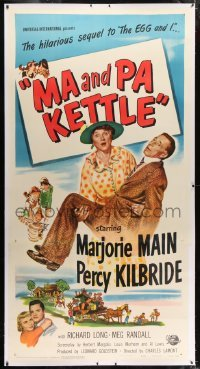 2t018 MA & PA KETTLE linen 3sh 1949 Marjorie Main & Percy Kilbride in the sequel to The Egg and I!