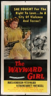 2t025 WAYWARD GIRL linen 3sh 1957 great art of innocent teen girl in nightie & fighting in prison!
