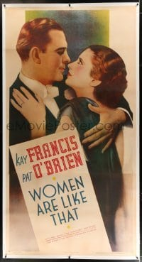 2t026 WOMEN ARE LIKE THAT linen 3sh 1938 full-length romantic c/u of sexy Kay Francis & Pat O'Brien!