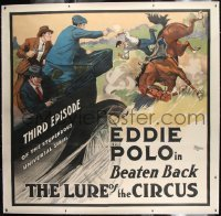 2t005 LURE OF THE CIRCUS linen chapter 3 6sh 1918 art of men in car shooting at Eddie Polo on horse!