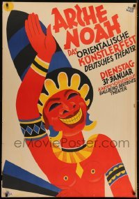 2t110 ARCHE NOAH exhibition German 33x47 1928 Willy Wolff indigenous expressionist art, festival!