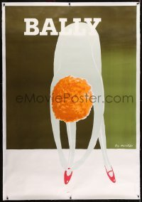 2t084 BALLY linen 46x67 French advertising poster 1980 sexy art by Pierre Fix-Masseau!