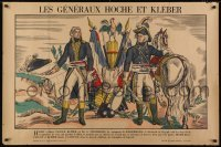 2t092 LES GENERAUX HOCHE ET KLEBER 31x47 French special poster 1944 art of French revolutionaries!