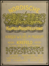 2t109 NORDISCHE 35x48 German museum/art exhibition 1902 Nordic art at the Kaiser Wilhelm Museum!