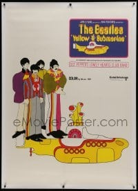 2t003 YELLOW SUBMARINE linen 36x50 Swiss poster 1968 The Beatles, different art & ultra rare!