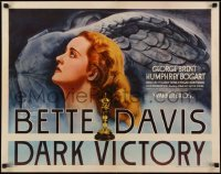 2w010 DARK VICTORY 1/2sh 1939 c/u of doomed Bette Davis by statue of Winged Victory, ultra rare!