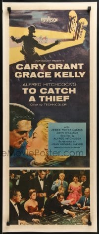 2w045 TO CATCH A THIEF insert 1955 Grace Kelly & Cary Grant, Hitchcock, roulette gambling scene!