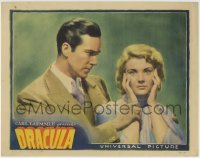 2w289 DRACULA LC 1931 Tod Browning Universal horror classic, David Manners & scared Helen Chandler