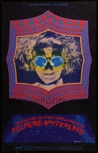 2w049 BIG BROTHER & THE HOLDING COMPANY/FOUNDATIONS/ARTHUR BROWN 1st print 14x22 music poster 1968