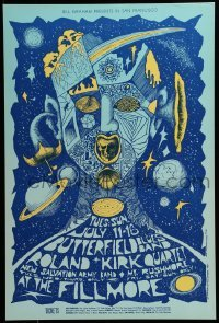 2w054 BUTTERFIELD BLUES BAND/ROLAND KIRK QUARTET/NEW SALVATION ARMY/MT. RUSHMORE 14x21 music poster 1967