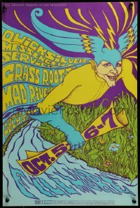 2w077 QUICKSILVER MESSENGER SERVICE/GRASS ROOTS/MAD RIVER 14x21 music poster 1967 MacLean art!