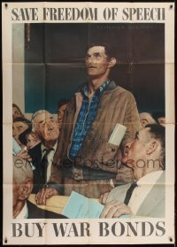 2w171 NORMAN ROCKWELL WAR POSTERS 4 40x56 WWII war posters 1943 The Four Freedoms, rare full set!