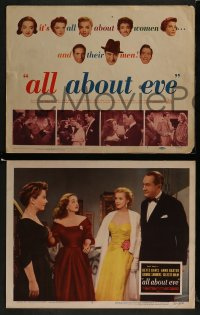 2w241 ALL ABOUT EVE 8 LCs 1950 Bette Davis, Anne Baxter, sexy Marilyn Monroe, rare complete set!