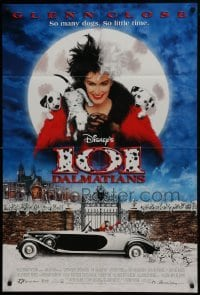 2x256 101 DALMATIANS DS 1sh 1996 Walt Disney live action, Glenn Close as Cruella De Vil!