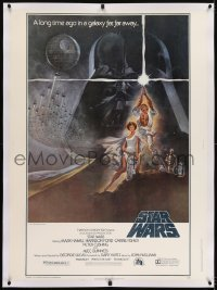 2x006 STAR WARS linen style A 30x40 1977 George Lucas classic sci-fi epic, iconic art by Tom Jung!