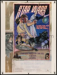 2x040 STAR WARS style D 30x40 1977 George Lucas sci-fi epic, art by Drew Struzan & Charles White!