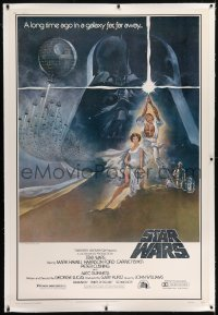 2x005 STAR WARS linen style A 40x60 1977 George Lucas classic sci-fi epic, great art by Tom Jung!