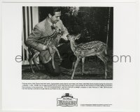 2x629 BAMBI candid video 8x10 still R1997 Walt Disney feeding two fawns named Bambi & Faline!
