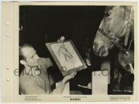 2x627 BAMBI candid 8x11 key book still 1942 artist shows horse the portrait sketch he drew of him!