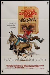 2x260 APPLE DUMPLING GANG RIDES AGAIN 1sh 1979 wacky art of Don Knotts & Tim Conway on donkey!