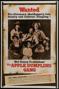 2x259 APPLE DUMPLING GANG 1sh 1975 Disney, Don Knotts in the motion picture of profound nonsense!