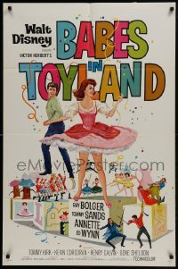 2x261 BABES IN TOYLAND 1sh 1961 Walt Disney, Ray Bolger, Tommy Sanders, Annette, musical!