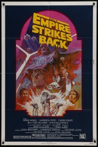 2x021 EMPIRE STRIKES BACK NSS style 1sh R1982 George Lucas sci-fi classic, cool artwork by Tom Jung!