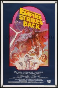 2x064 EMPIRE STRIKES BACK studio style 1sh R1982 George Lucas sci-fi classic, cool art by Tom Jung!