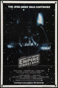 2x019 EMPIRE STRIKES BACK NSS style advance 1sh 1980 George Lucas classic, Darth Vader in space!