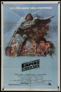 2x020 EMPIRE STRIKES BACK style B NSS style 1sh 1980 George Lucas classic, art by Tom Jung!