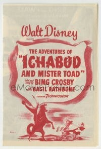 2x616 ADVENTURES OF ICHABOD & MISTER TOAD herald 1949 BING & WALT wake Sleepy Hollow with a BANG!
