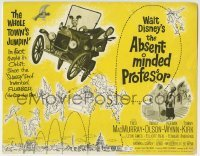 2x411 ABSENT-MINDED PROFESSOR TC 1961 Walt Disney, Flubber, Fred MacMurray in the title role!