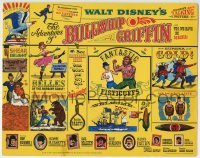 2x412 ADVENTURES OF BULLWHIP GRIFFIN TC 1966 Disney, beautiful belles, mountain ox battle, cool!