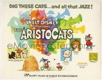 2x413 ARISTOCATS TC R1973 Walt Disney feline jazz musical cartoon, great colorful images!