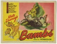 2x384 BAMBI LC #4 R1948 Walt Disney cartoon deer classic, great image with Thumper!
