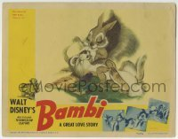 2x381 BAMBI LC 1942 Walt Disney cartoon deer classic, great image with Thumper the rabbit!