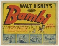2x376 BAMBI TC 1942 Walt Disney cartoon deer classic, great art with Thumper & Flower, very rare!