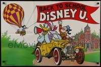 2x610 BACK TO SCHOOL DISNEY U 22x33 special poster 1978 Disney, great art of Mickey in balloon!