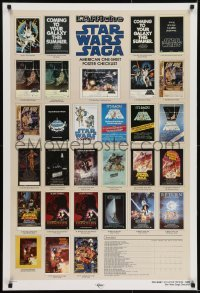 2x072 STAR WARS CHECKLIST 2-sided Kilian 1sh 1985 great images of all the U.S. posters!