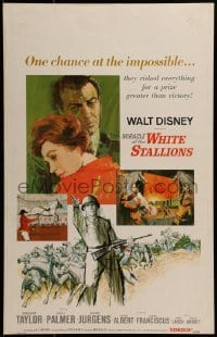 2x249 MIRACLE OF THE WHITE STALLIONS WC 1963 Walt Disney, Lipizzaner stallions & soldiers art!