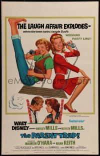 2x250 PARENT TRAP WC R1968 Disney, art of Hayley Mills as twins, Maureen O'Hara & Brian Keith!