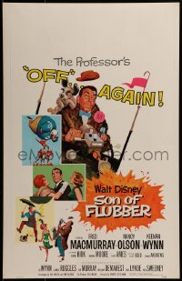 2x254 SON OF FLUBBER WC 1963 Walt Disney, art of absent-minded professor Fred MacMurray!