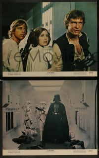 2x023 STAR WARS 8 color 11x14 stills 1977 Luke, Leia, C-3PO, Han, R2, Chewie, Vader, NSS 77/21-0!