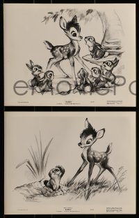 2x614 BAMBI 5 from 8x10 to 9.25x12 stills 1942 Walt Disney, art & images from cartoon deer classic!