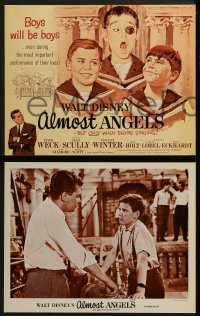 2x473 ALMOST ANGELS 8 LCs 1962 Walt Disney, Peter Weck, Vincent Winter, Vienna choirboys!